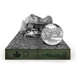 2015 Canada $20 End of the Italian Campaign with Diorama Box (Lightly toned). TAX Exempt