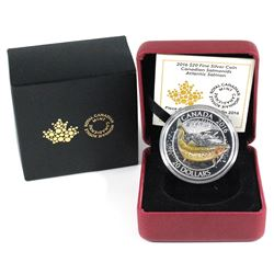 2016 $20 Canadian Salmonids - Atlantic Salmon Fine Silver Coin. (TAX Exempt)