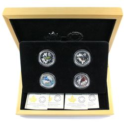 4 Out Of 5 - 2015 Canada $10 Colourful Songbirds of Canada Fine Silver Coins Encapsulated in Non-Ori