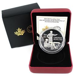 2014 Canada $30 75th Anniversary of the Declaration of WWII. (TAX Exempt)