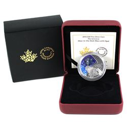 2016 Canada $20 The Universe Glass with Opal Glow-In-Dark Silver (Capsule lightly scratched).