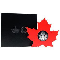 2015 $20 The Canadian Maple Leaf - Maple Leaf Shaped Fine Silver. (TAX Exempt)