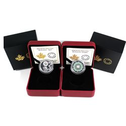 2016 April & 2018 October Canada $5 Birthstone Fine Silver Coins. 2pcs