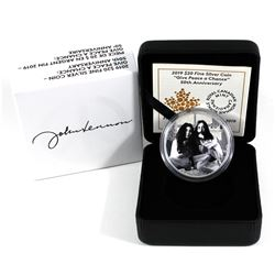 2019 Canada $20 Give Peace a Chance 50th Anniversary Fine Silver Coin. (TAX Exempt)