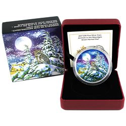 2017 Canada $30 Animals in the Moonlight - Great Horned Owl Fine Silver Coin. (TAX Exempt)