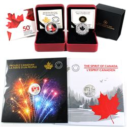 2013 Canada $3 Maple Leaf Impression, 2015 $3 50th Anniversary of the Canadian Flag, 2017 $3 The Spi