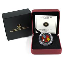 2013 Canada $20 Glass Candy Cane Fine Silver Coin.