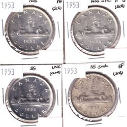 1953 NSS, 1953 NSS SWL, 1953 SS  & 1953 SS SWL Silver Dollar  VF-EF or Better Condition (cleaned/scr