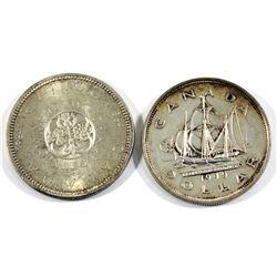 1949 & 1964 Silver Dollars. 2pcs