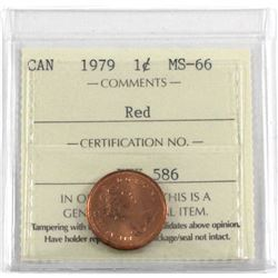 1-cent 1979 ICCS Certified MS-66 RED!  A Full red coin with exceptional eye appeal and clean fields.