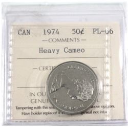 50-cent 1975 ICCS Certified PL-66 Heavy Cameo!