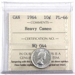 1964 10-cent ICCS Certified PL-66 Heavy Cameo!