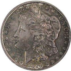 1889 United States Morgan Silver $1 I AU-UNC. Impressive Indigo Blue and violet tones throughout the