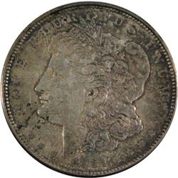 1921-D United States Morgan Silver $1 in AU-UNC condition Nice toning throughout.