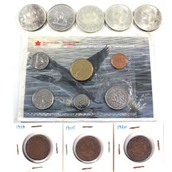 Estate Lot of 2x 1966 & 2x 1967 Silver Dollars, 1973 Silver Dollar, 1989 Proof Like Set and a 1913,