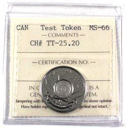 Test Token, TT-25.20 ICCS Certified MS-66