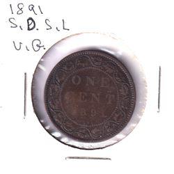 1891 Canada 1-cent SD SL Very Good.