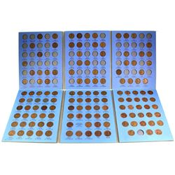 Estate Lot of USA Lincoln Head Cents. Coins are housed in old Blue Whitman folders. 1909-1940 (46 co