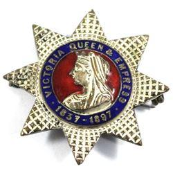1837-1897 Victoria Queen & Empress Enameled Pin.