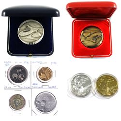 1976 Official Montreal Olympics Medallions, Lot includes Sterling Silver and Bronze version both in