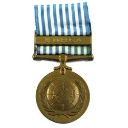 Named United Nations Korea Service Medal - SG-11334, M.C. Laking, R.C.H.A.
