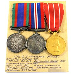Named EIIR Canadian Forces Decoration Medal, Voluntary WWII Medal & 1939-1945 War Medal - Corporal G