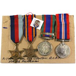Voluntary WWII Medal, 1939-1945 War Medal, The 1939-1945 Star & The Burma Star - Corporal C.A. Dawso