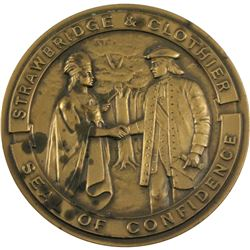 VINTAGE 1868-1968 Strawbridge & Clothier 'A Century of Confidence'  Seal of Confidence Bronze Medal