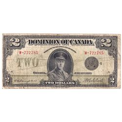 1923 DC-26I $2, Dominion of Canada, Campbell-Clark, Black Seal, Group 4, VG (Contains some minor pin