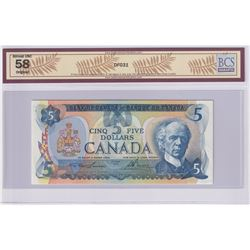Low Serial Number! BC-53a-N5-iv 1979 Bank of Canada $5, Lawson-Bouey, S/N: 30000000257, BCS Certifie