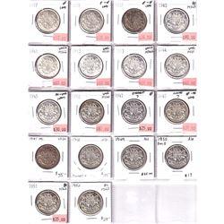 Estate Lot of 1937-1952 Canada George VI 50-cent in F-VF to Brilliant Uncirculated Condition. Includ