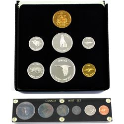 1867-1967 Canada Centennial 6-coin Year Set in Black Holder & 1967-2017 Proof 7-coin Set with Gold P