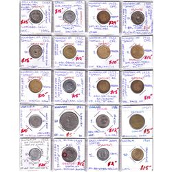 Estate Lot of 20x World Coins & World Coin Medium to Major Errors - Many from Spain, in Plastic Page