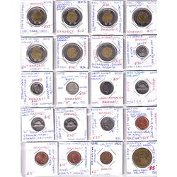 Estate Lot of Assorted Mostly Major Canada 'Error' Coins - 4x 1-cent, 4x 5-cent, 3x 10-cent, 7x $2 &