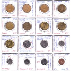 Estate Lot of Assorted Canada 'Error' Coins - 1-cent, 5-cent, 3x 10-cent, 2x 25-cent & 9x Loon $1. A