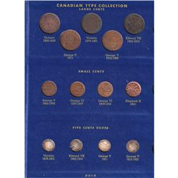 Estate Lot of Canadian Type Set Collection in Blue Whitman Album. Includes every denomination of Can