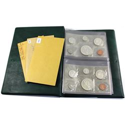 Estate Lot of 1961, 1962, & 1963 Arrowhead Dollar Canada Proof Like Sets with Envelopes in Green RCM