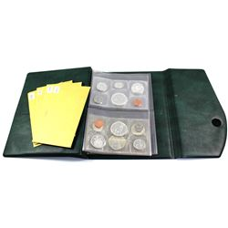 Estate Lot of 1963, &3x 1966 Canada Proof Like Sets with Envelopes in Green RCM Proof Like Set Binde