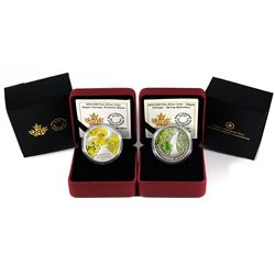 2014 Canada Maple Canopy - Autumn Allure & Spring Splendor Fine Silver Coins (Spring sleeve has writ