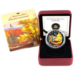 2013 Canada $20 Autumn Bliss Fine Silver Coin. (TAX Exempt)