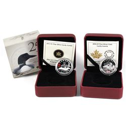 2012 & 2016 Canada $1 Lucky Loonie Fine Silver Coins (2016 missing sleeve). 2pcs (TAX Exempt)