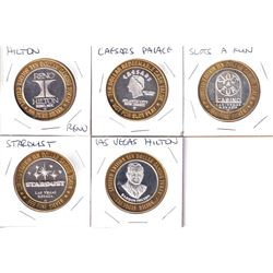 Estate Lot of Limited Edition $10 .999 Fine Silver Casino Tokens from Different Casinos. You will re