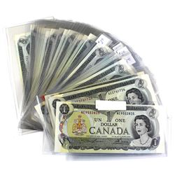 Estate Lot of 1973 Bank of Canada $1 Notes Lawson-Bouey Signatures. You will receive 5x different pr