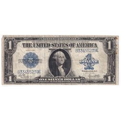 1923 United States $1 Silver Certificate, S/N: B33455239E (Some stains on right hand side of note).