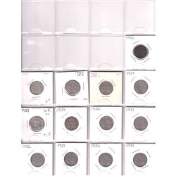 Estate Lot of 1922-2019 Canada 5-cent Collection in Black Binder. You will receive all dates with va