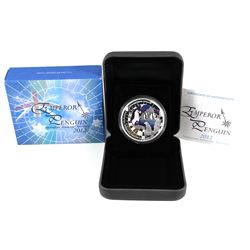2012 Australian Perth Mint 1oz Colourized Emperor Penguin Proof coin with original Mint packaging an