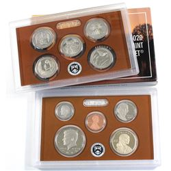 2020 United States 10-coin Proof Set Including a Sealed 2020 W Proof Jefferson Nickel (Some coins ar