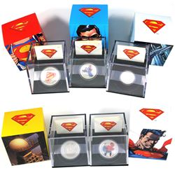 *2013 Canada Superman Series Fine Silver Coins - 2013 $20 Superman's Shield, 2013 $20 Superman & Met