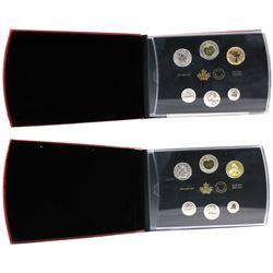 2014 Canada Ferruginous Hawk & 2018 Burrowing Owl 6-coin Specimen Sets. 2pcs
