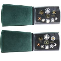1998 RCMP & 1999 Voyage of Juan Perez Canada Double Dollar Proof Sets (Some coins are lightly toned)